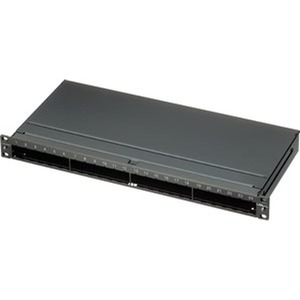LANC 1U 19PATCH PANEL,EMPTY, BLACK 1PCE