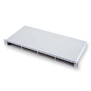 LANC 1U 19PATCH PANEL,EMPTY, GREY 1PCE