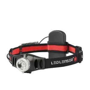 Stirnlampe LED H5, LED Stirnlampe H5, Advanced Focus System, rotes Rücklicht
