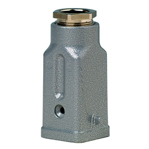 Hood A3, zinc, height 57mm, with single locking system, 1xM20, cable entry straight and cable gland