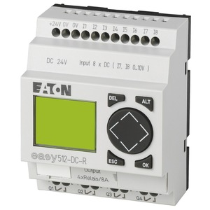 EASY512-DC-R, Steuerrelais, 24VDC, 8DI(2AI), 4DO-Relais, Display