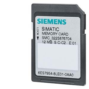 6ES7954-8LE02-0AA0, Memory Card für S7-1x 00 CPU/SINAMICS, 3, 3V Flash, 12 MByte